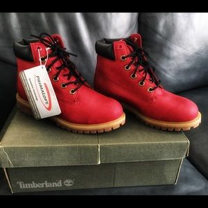 Timberland Boots, Boys/Juniors Size 5, Red, New